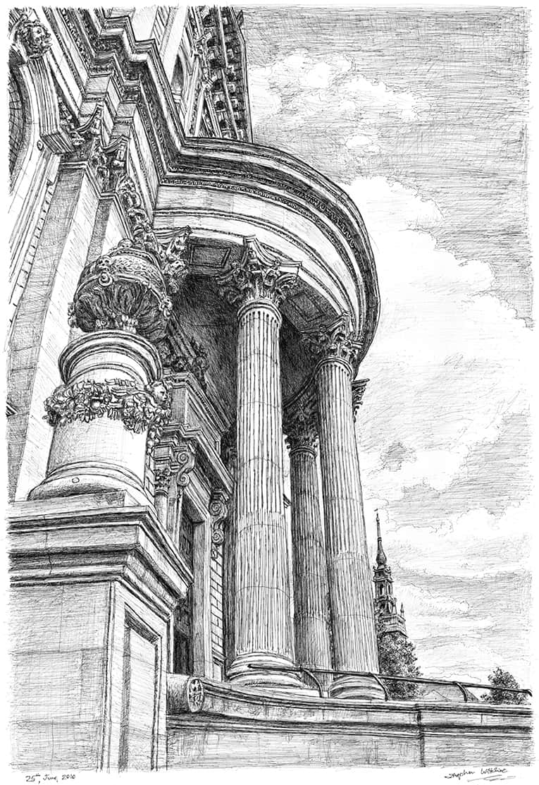 St Pauls forever - Original Drawings and Prints for Sale