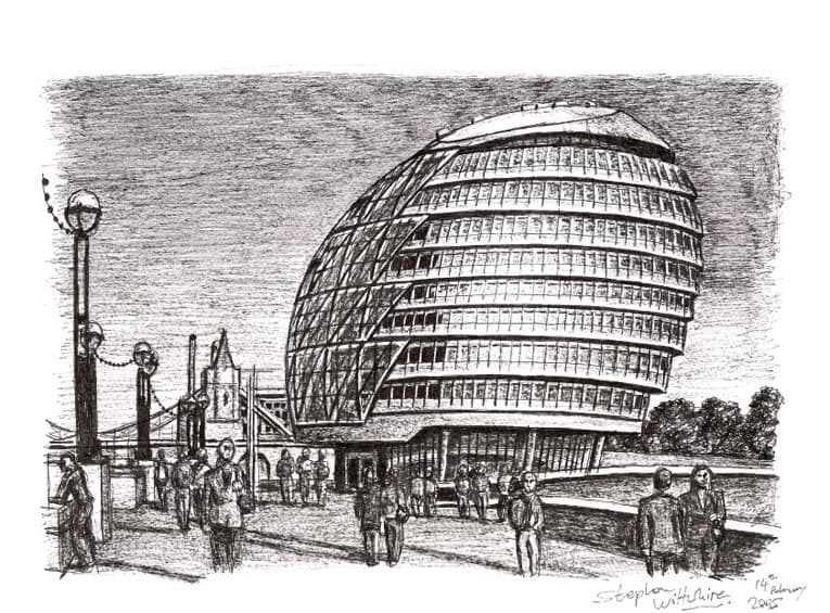 The Mayor of Londons Office - originals and prints by Stephen Wiltshire MBE
