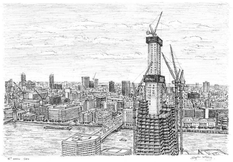 Shard - originals and prints by Stephen Wiltshire MBE