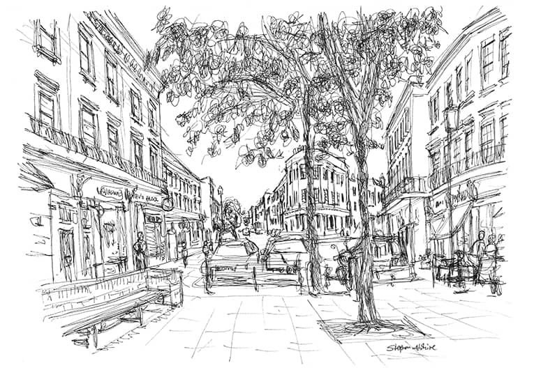 Notting Hill - original drawings and prints by Stephen Wiltshire