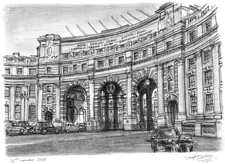 Admiralty Arch Whitehall - Original Drawings and Prints for Sale