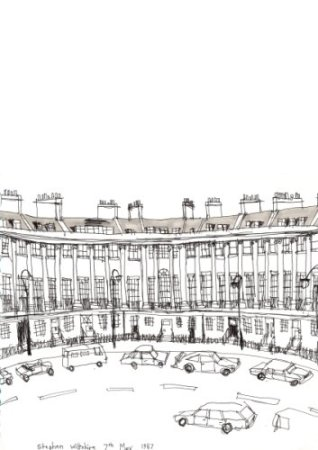 Royal Crescent - original drawings and prints by Stephen Wiltshire
