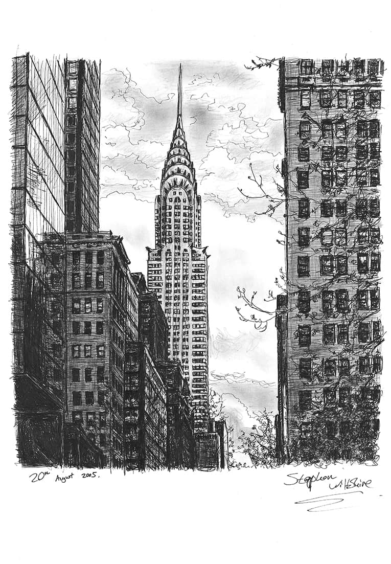 Chrysler Building - Original Drawings and Prints for Sale
