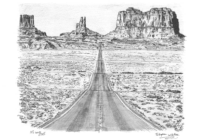 Grand Canyon Monument Valley - Original Drawings and Prints for Sale