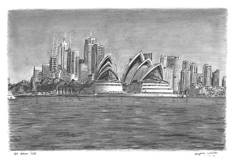 Sydney Opera House with White mount (A2)