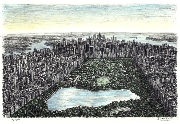Central Park, New York - drawings and paintings by Stephen Wiltshire MBE