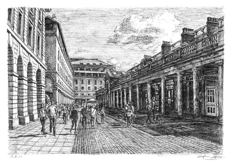 Covent Garden (London) - originals and prints by Stephen Wiltshire MBE