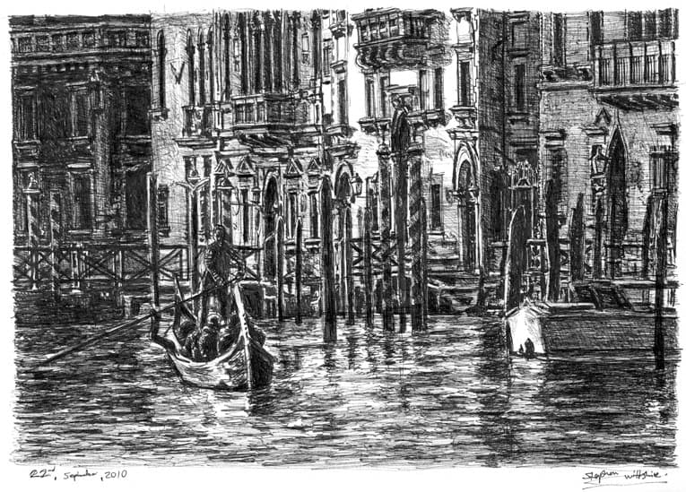 Venice - original drawings and prints by Stephen Wiltshire