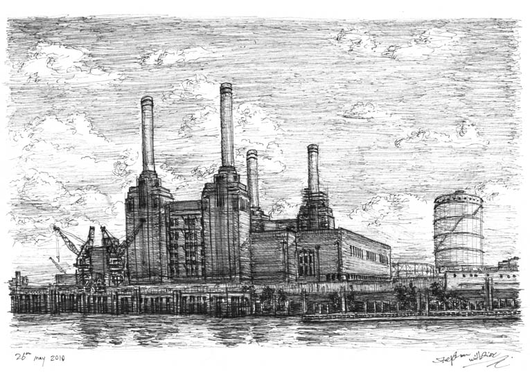 Battersea Power Station, London - drawings and paintings by Stephen Wiltshire MBE