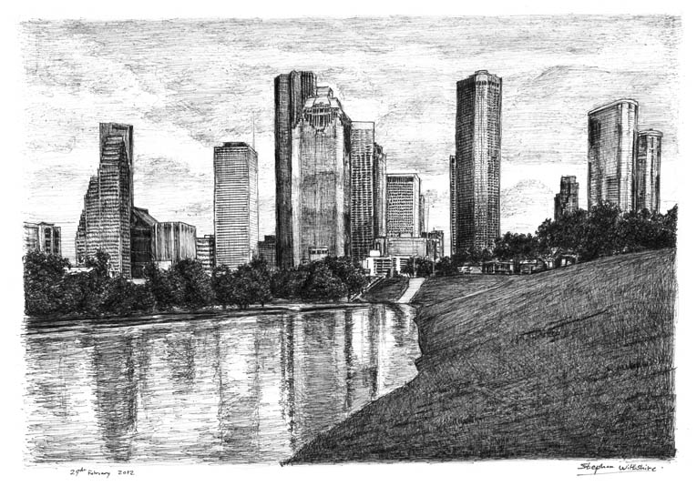 Houston, Texas (USA) - drawings and paintings by Stephen Wiltshire MBE