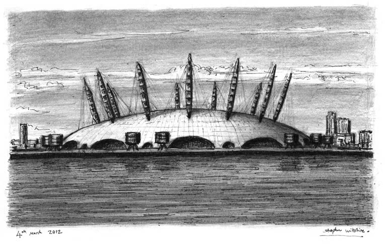 Millennium Dome (London) - original drawings and prints by Stephen Wiltshire
