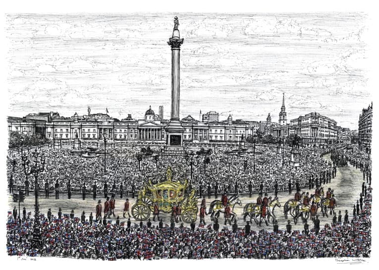 Diamond Jubilee - drawings and paintings by Stephen Wiltshire MBE