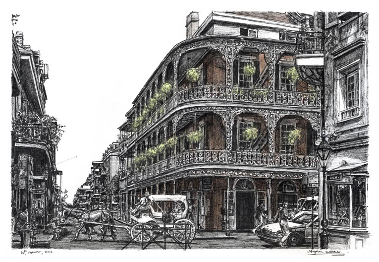 New Orleans USA - original drawings and prints for sale