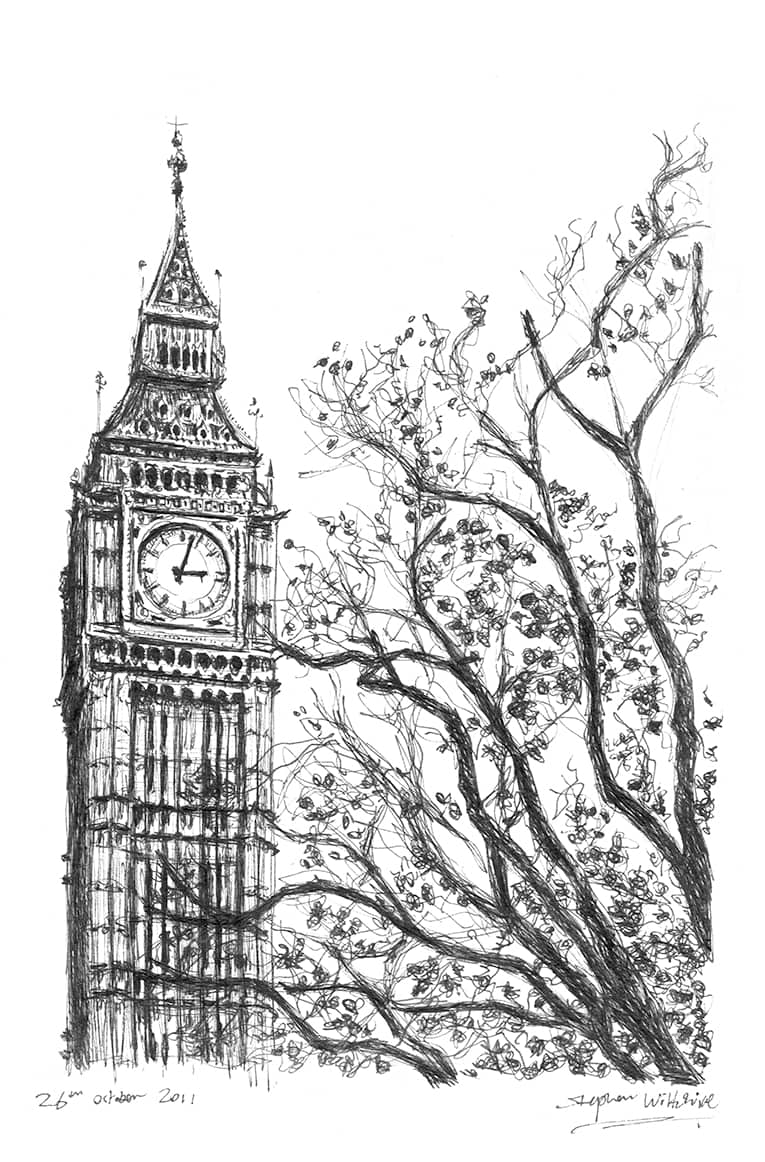 Big Ben 2011 - original drawings and prints for sale