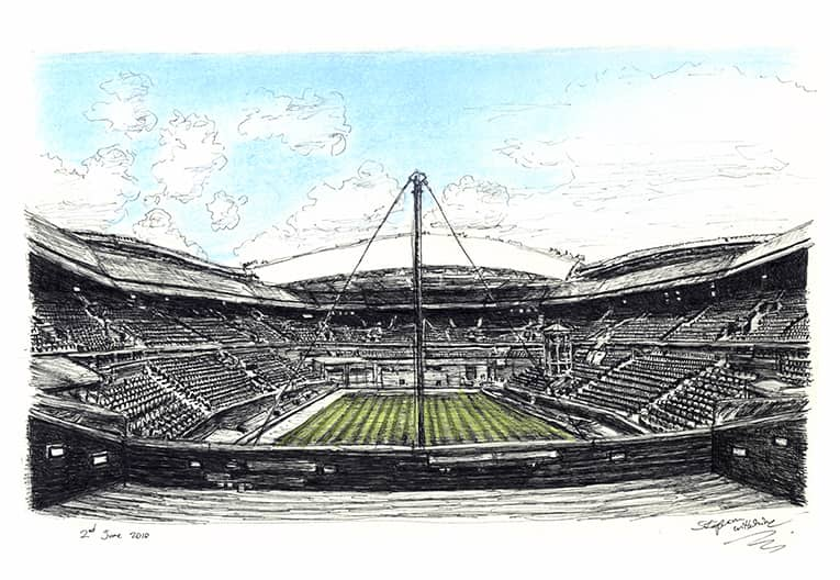 Centre Court, Wimbledon - originals and prints by Stephen Wiltshire MBE