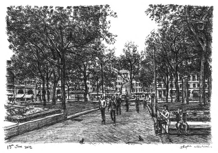 Leicester Square (London) - originals and prints by Stephen Wiltshire MBE