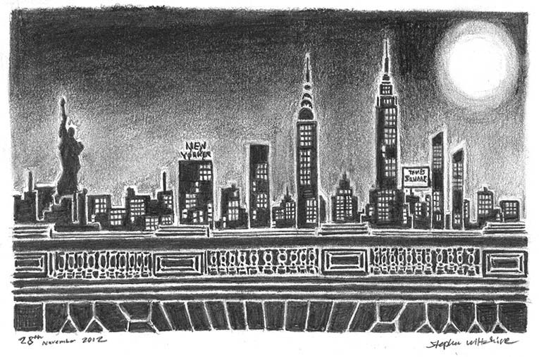 New York silhouette - originals and prints by Stephen Wiltshire MBE