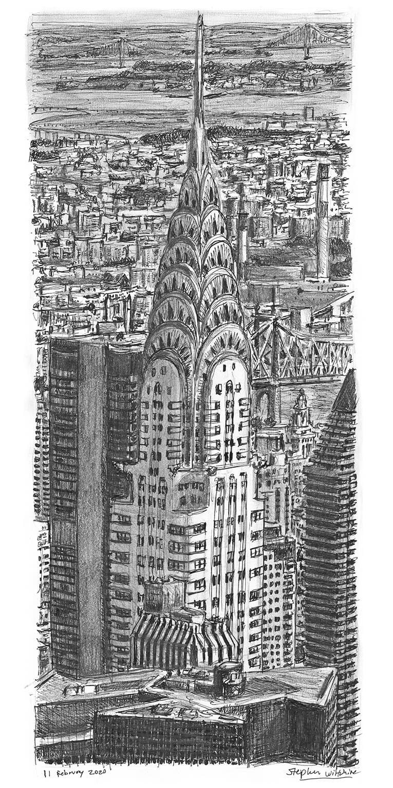 Chrysler Building, New York - Original Drawings and Prints for Sale