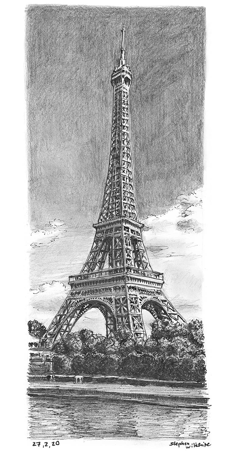 Eiffel Tower, Paris - original drawings and prints by Stephen Wiltshire