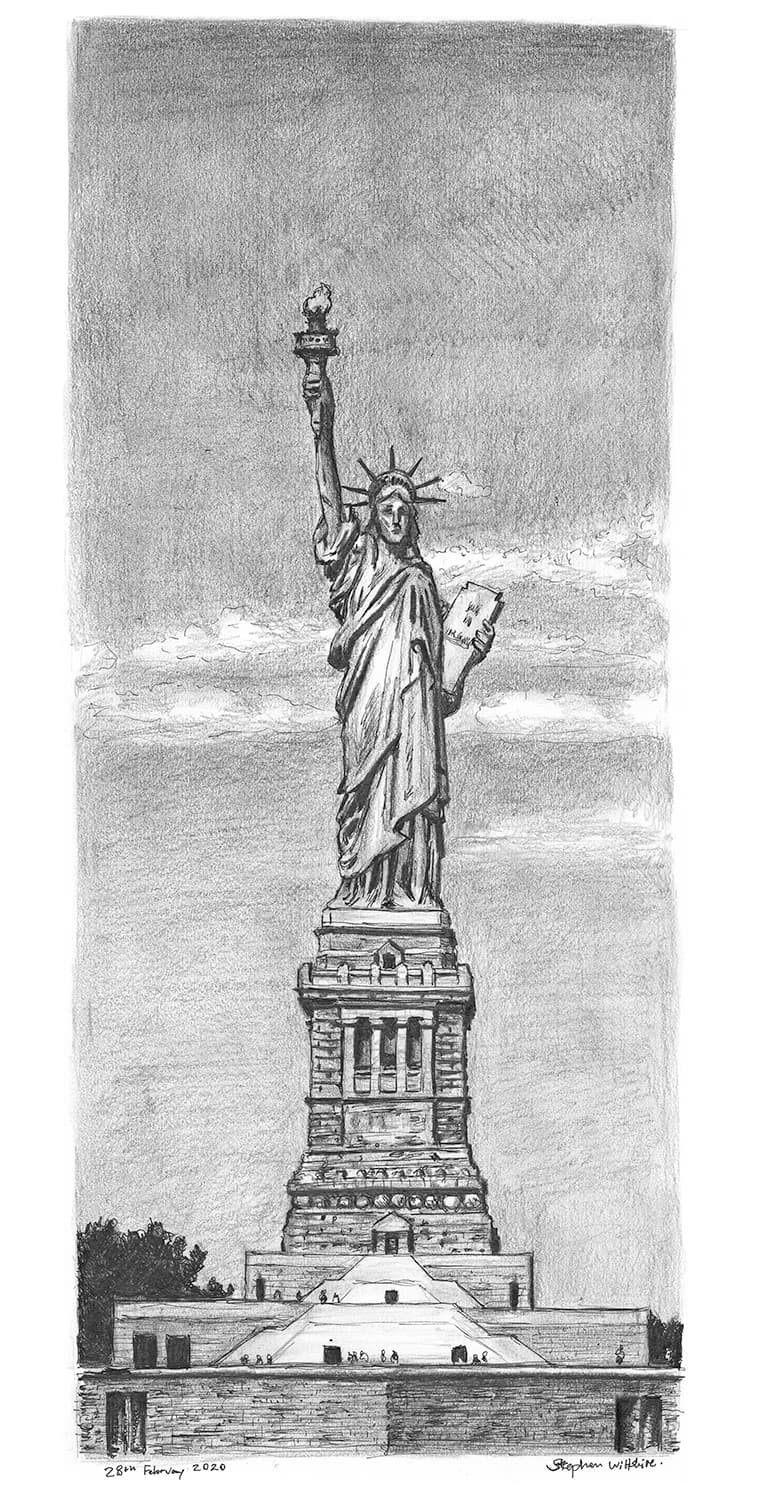 Statue of Liberty, New York - original drawings and prints for sale