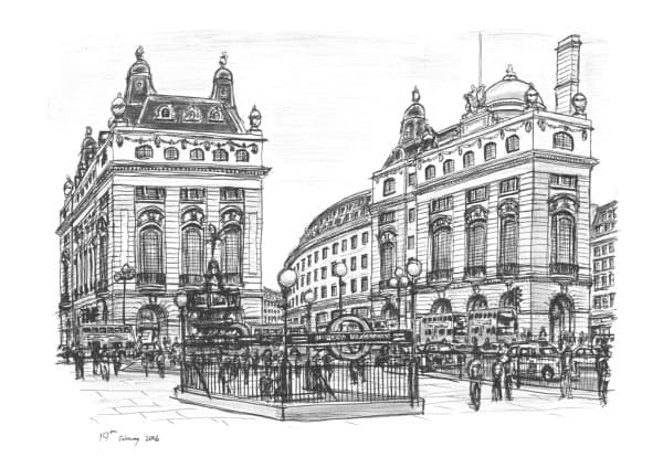 Piccadilly Circus, London 2006 (Limited Edition of 25) with White mount (A3)