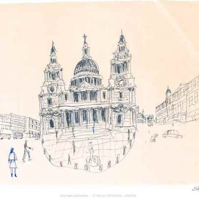 St Pauls, London 1983 (signed)1 - Prints for sale