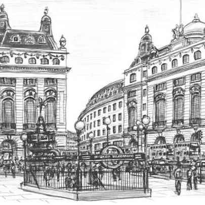 Piccadilly Circus, London 2006 (Limited Edition of 25) - Drawings - Prints for sale