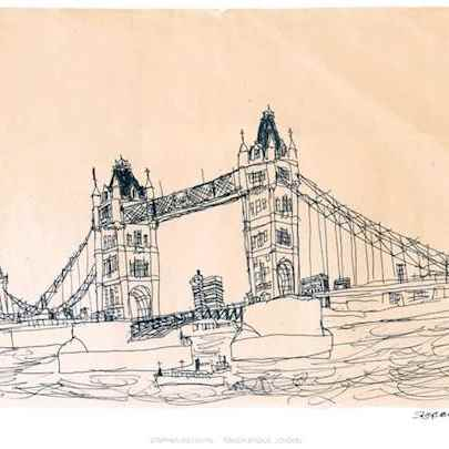 Tower Bridge, London 1983 (signed)1 - Prints for sale