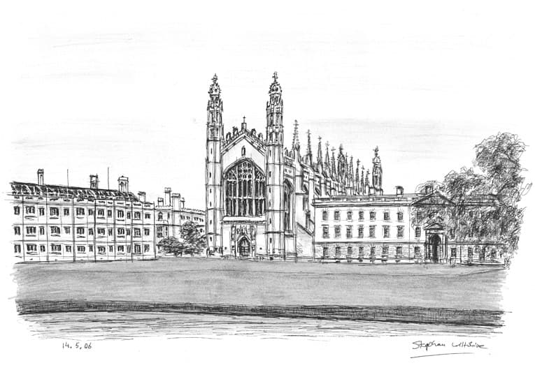 Kings College Cambridge - original drawings and prints by Stephen Wiltshire