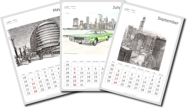 Papaya Art Calendar Uk : Stephen wiltshire art calendar le of original