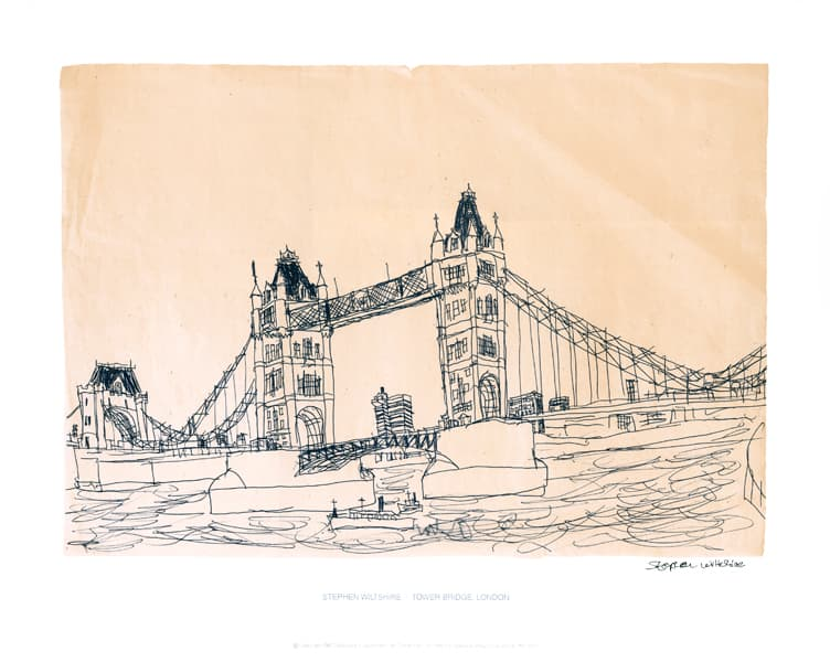 Tower Bridge, London 1983 (signed) - originals and prints by Stephen Wiltshire MBE