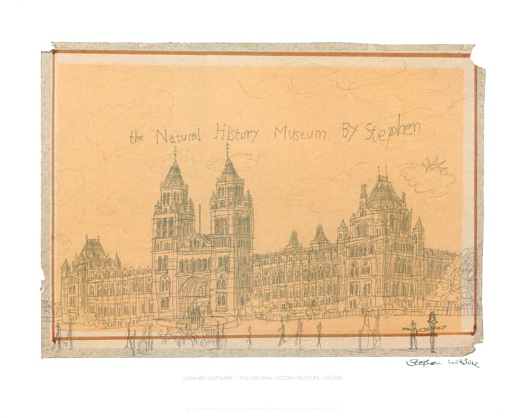 Natural History Museum, London 1983 (signed) - original drawings and prints by Stephen Wiltshire
