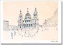St Pauls, London 1983 (signed) - Prints for sale