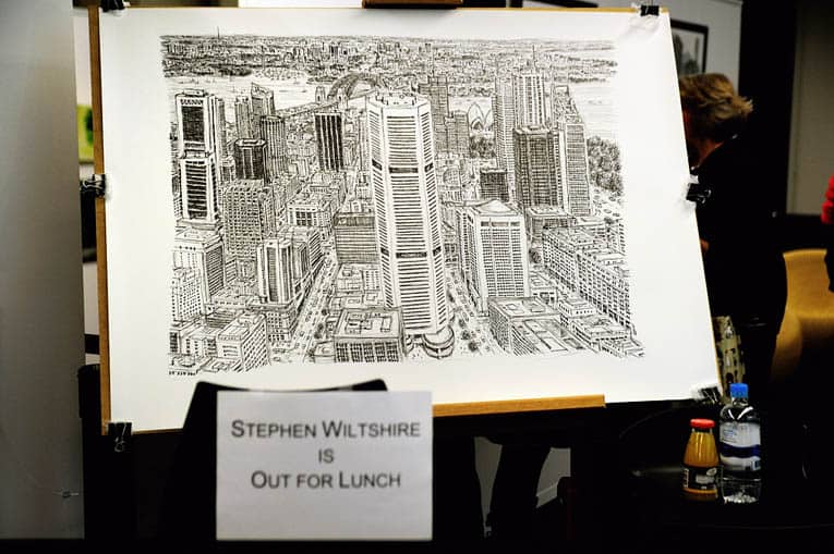 Stephen Wiltshire is out for lunch