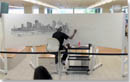 Time lapse of Stephen drawing Brisbane Panorama - Stephen Wiltshire videos, documentaries, reports and unseen footage