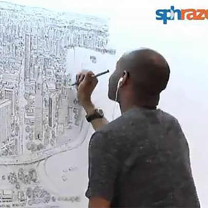 Singapore Panorama Full Time Lapse - Stephen Wiltshire videos - Watch now
