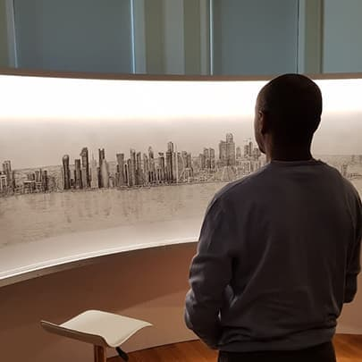 Stephen Wiltshire recreates Doha - Stephen Wiltshire videos - Watch now