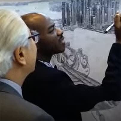 Teaching the President how to draw - Stephen Wiltshire videos - Download now