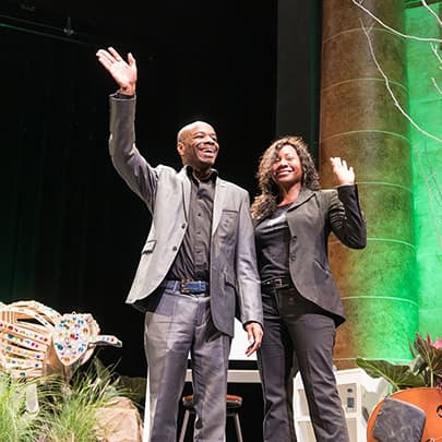 Stephen and Annette Wiltshire at PINC - Stephen Wiltshire videos - Watch now