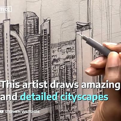 Artist draws amazing and detailed cityscapes - Stephen Wiltshire videos - Watch now